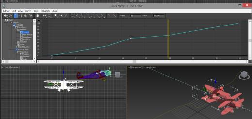 Uso del editor de curvas para animar el parámetro % Along Path