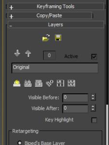 Desplegable Layers en panel Motion